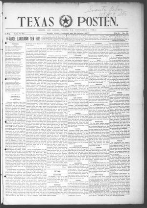 Primary view of object titled 'Texas Posten (Austin, Tex.), Vol. 2, No. 29, Ed. 1 Friday, October 29, 1897'.