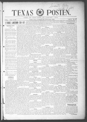 Primary view of object titled 'Texas Posten (Austin, Tex.), Vol. 2, No. 30, Ed. 1 Friday, November 5, 1897'.