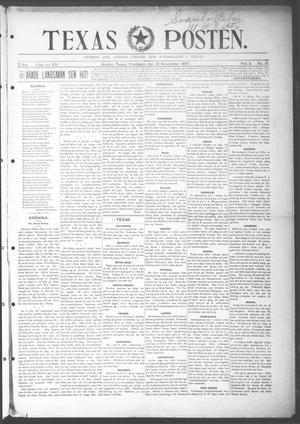 Primary view of object titled 'Texas Posten (Austin, Tex.), Vol. 2, No. 31, Ed. 1 Friday, November 12, 1897'.