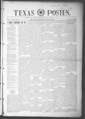 Primary view of object titled 'Texas Posten (Austin, Tex.), Vol. 2, No. 32, Ed. 1 Friday, November 19, 1897'.
