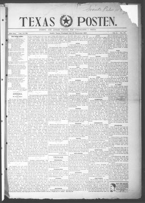 Primary view of object titled 'Texas Posten (Austin, Tex.), Vol. 2, No. 37, Ed. 1 Friday, December 24, 1897'.