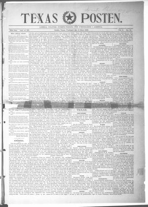 Primary view of object titled 'Texas Posten (Austin, Tex.), Vol. 2, No. 51, Ed. 1 Friday, March 18, 1898'.