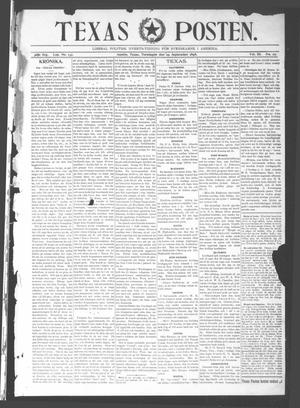 Primary view of object titled 'Texas Posten (Austin, Tex.), Vol. 3, No. 27, Ed. 1 Thursday, September 29, 1898'.