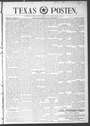 Primary view of object titled 'Texas Posten (Austin, Tex.), Vol. 3, No. 37, Ed. 1 Thursday, December 8, 1898'.