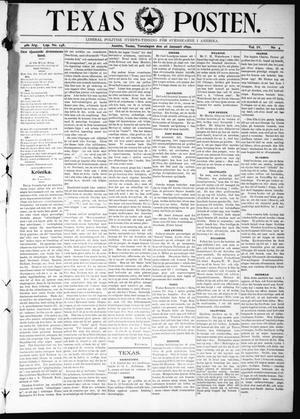 Primary view of object titled 'Texas Posten (Austin, Tex.), Vol. 4, No. 4, Ed. 1 Thursday, January 26, 1899'.
