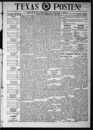 Primary view of object titled 'Texas Posten (Austin, Tex.), Vol. 4, No. 13, Ed. 1 Thursday, March 30, 1899'.