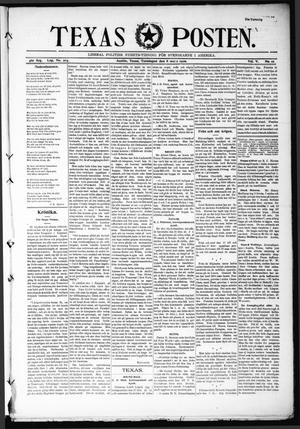Primary view of object titled 'Texas Posten (Austin, Tex.), Vol. 5, No. 10, Ed. 1 Thursday, March 8, 1900'.