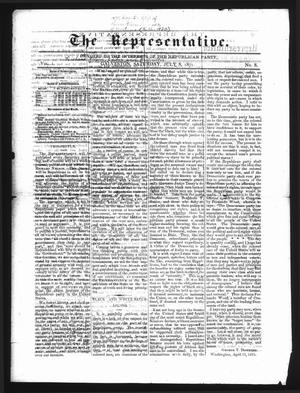 The Representative. (Galveston, Tex.), Vol. 1, No. 8, Ed. 1 Saturday, July 8, 1871