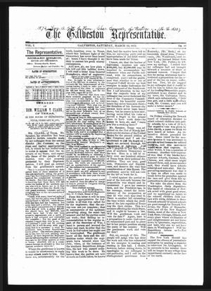 The Galveston Representative. (Galveston, Tex.), Vol. 1, No. 16, Ed. 1 Saturday, March 23, 1872