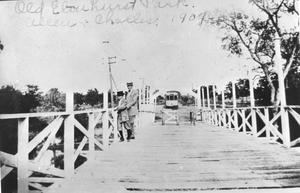 Primary view of object titled '[The Bridge at the Old Elmhurst Park]'.