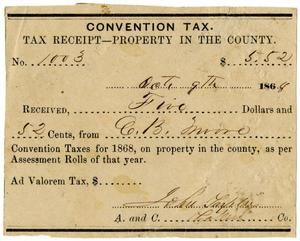 [Convention tax, 1868]
