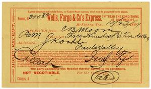 Primary view of object titled '[Money receipt, October 23, 1889]'.