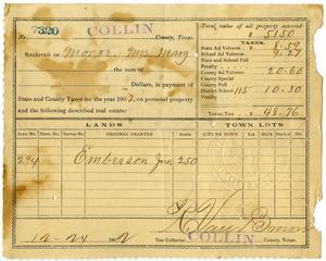 Primary view of object titled '[Receipt for taxes paid, December 24, 1902]'.