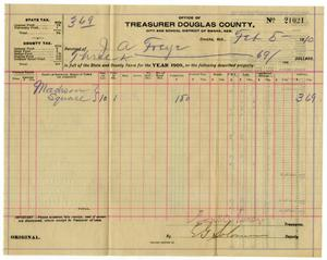 Primary view of object titled '[Receipt for taxes paid, February 5, 1910]CBM_1687-003-030'.