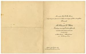 Primary view of object titled '[Wedding announcement for Linnett Moore and Claude D. White, October 15, 1901]'.
