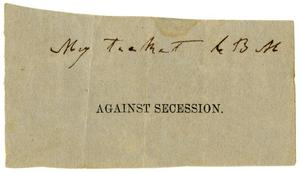 Primary view of object titled '[Ticket, undated]'.