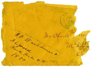 Primary view of object titled '[Envelope addressed C. B. Moore]'.