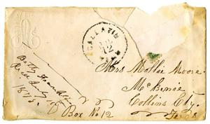 [Envelope addressed by Mrs. Mollie Moore]