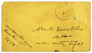 Primary view of object titled '[Envelope addressed to Abe Franklin]'.