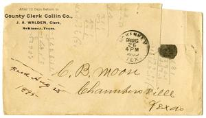 Primary view of object titled '[Envelope addressed to C. B. Moore]'.