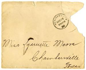 Primary view of object titled '[Envelope addressed to Linnet Moore]'.