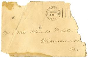 [Envelope addressed to Mr. and Mrs. White]