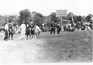 Primary view of object titled '[Basketball at Elmhurst Park]'.