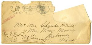 Primary view of object titled '[Envelope addressed to Mr. and Mrs. White]'.