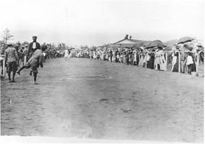 Primary view of object titled '[A Crowd at a Race]'.