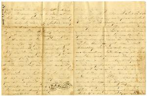 Primary view of object titled '[Letter from M. J. Wallace to Josephus and Elvira Moore, October 28, 1860]'.