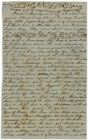 [Letter from Julia L. Rucker to Charles B. Moore, January 1861]