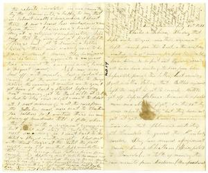 Primary view of object titled '[Letter from Elvira Moore to Charles B. Moore and Sabina Rucker, July 28, 1861]'.