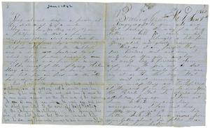 Primary view of object titled '[Letter from Josephus C. Moore, January 1, 1862]'.