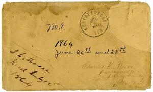 Primary view of [Envelope from Josephus Moore addressed to Charles Moore, July 9, 1864]