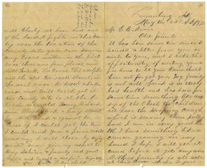 Primary view of object titled '[Letter from Bob Landers to Charles B. Moore, May, 23, 1875]'.