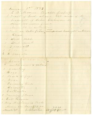 [C. B. Moore taxable property, January 1, 1877]