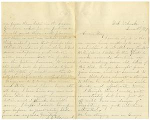 Primary view of object titled '[Letter from S. E. Leonard  to Mary, June 3, 1877]'.