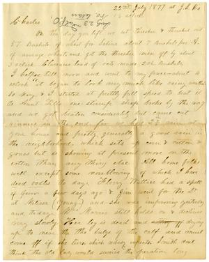 Primary view of object titled '[Letter from H. S. Moore, July 22, 1877]'.
