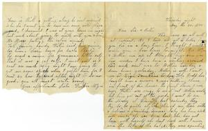 Primary view of object titled '[Letter from Dinkie McGee to Sissie and Bettie, May 30, 1878]'.