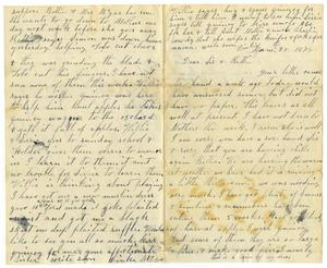 Primary view of object titled '[Letter from Dinkie McGee to Sissie and Bettie, June 28, 1878]'.