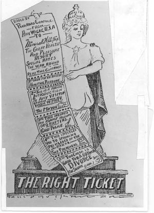 Primary view of object titled 'The Right Ticket'.