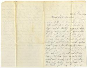 Primary view of object titled '[Letter from Dinkie McGee to Mr. Moore and Sis, February 28, 1879]'.