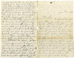 Primary view of object titled '[Letter from Dinkie McGee to Sis, January 17, 1879]'.