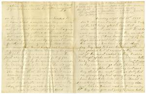 Primary view of object titled '[Letter from W. Dodd to Charles B. And Mary Ann Moore, October 31, 1880]'.