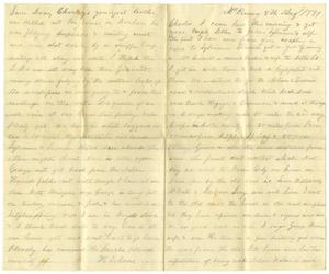 Primary view of object titled '[Letter from H. S. Moore to Charles, August 8, 1881]'.