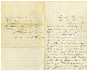 Primary view of object titled '[Letter from Sam E. Wanford to Charles B. Moore, August 27, 1883]'.