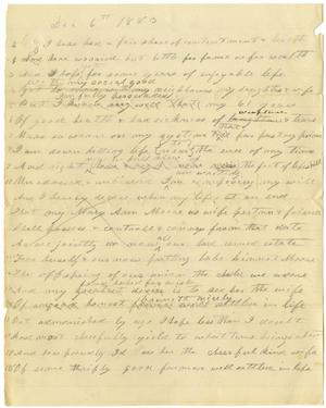 Primary view of object titled '[Rough draft of will by Charles B. Moore, December 6, 1883]'.