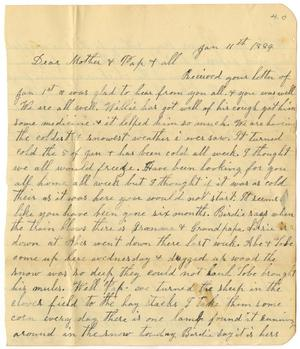 Primary view of object titled '[Letter from Dinkie McGee to C. B. Moore, January 11, 1884]'.