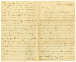 Primary view of object titled '[Letter from Henry S. Moore to Charles B. Moore, August 24-27, 1885]'.