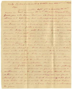 Primary view of object titled '[Letter from Charles B. Moore to Sam P. Henderson, September 16, 1885]'.
